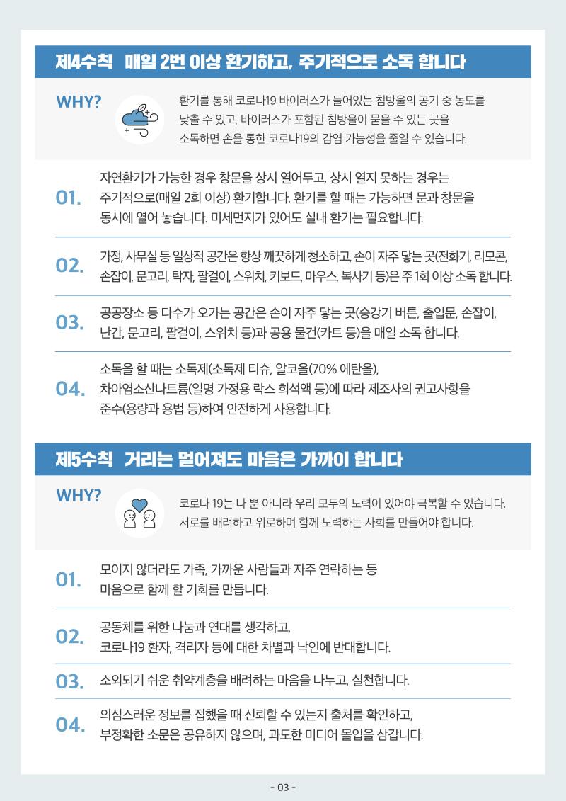 코로나19 생활속 거리두기 기본지침 3/7